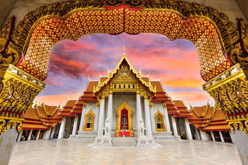 泰国曼谷大理石庙宇