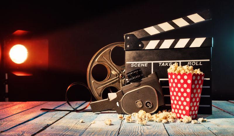 电影设备与爆米花