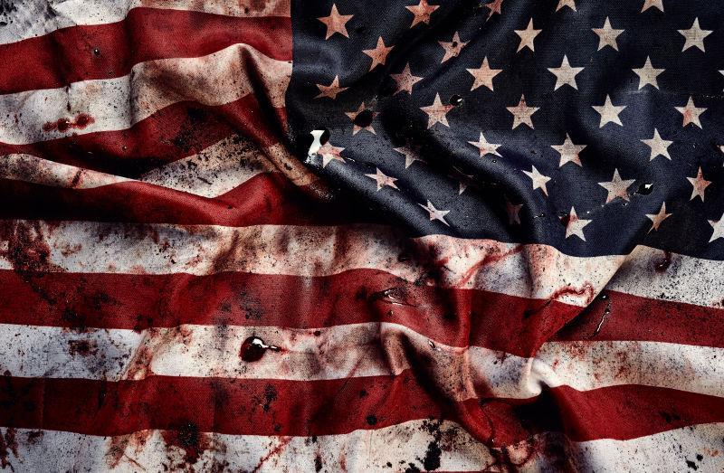 美国国旗上的血迹