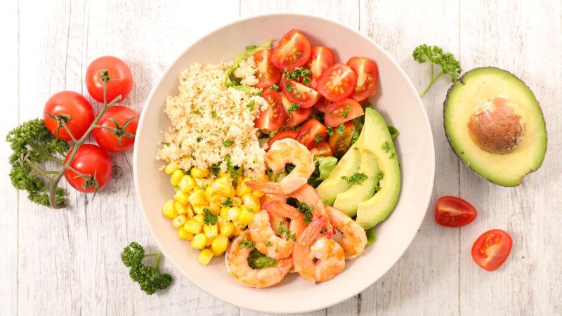 虾肉搭配不同的蔬菜