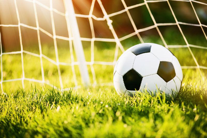 足球门中的足球