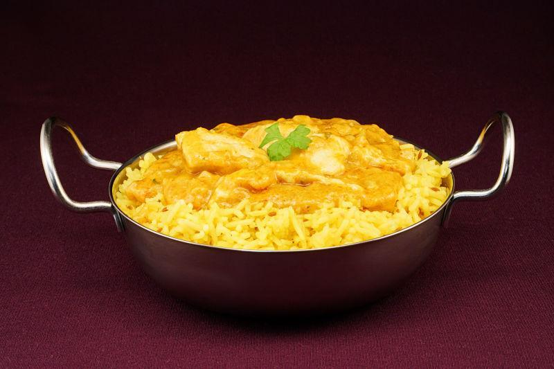 甜印度咖喱鸡肉可玛