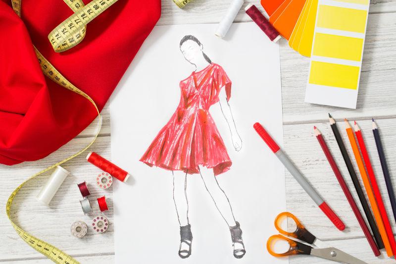 时装设计师工作室与设备