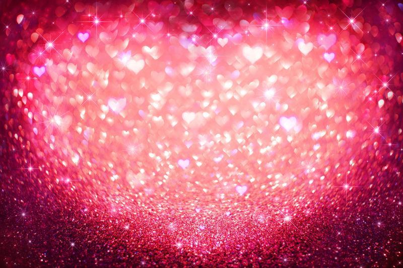 情人节红光闪烁的概念