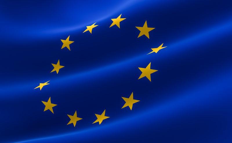 蓝色欧盟旗帜