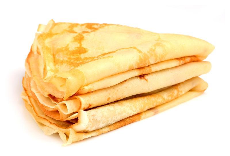 薄煎饼折叠堆叠