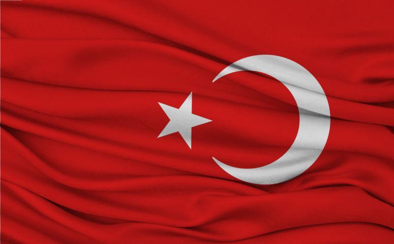 挥舞土耳其国旗