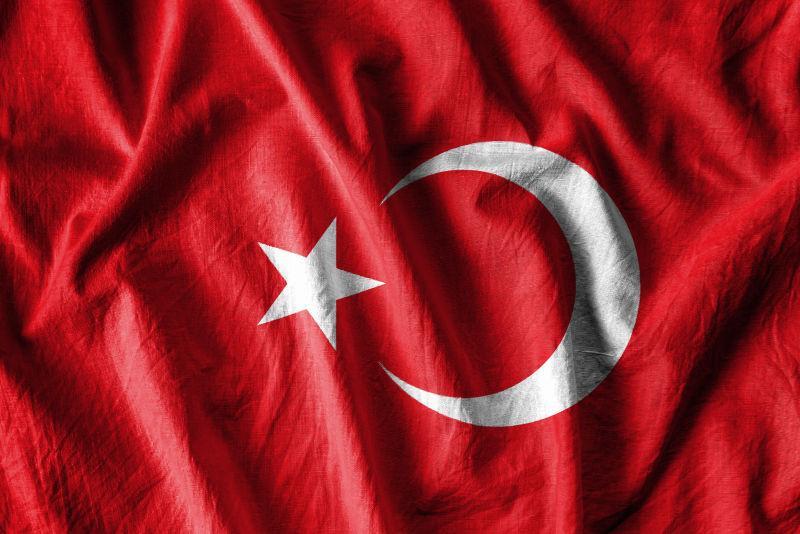 土耳其飘扬的旗帜
