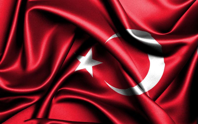 丝绒的土耳其国旗