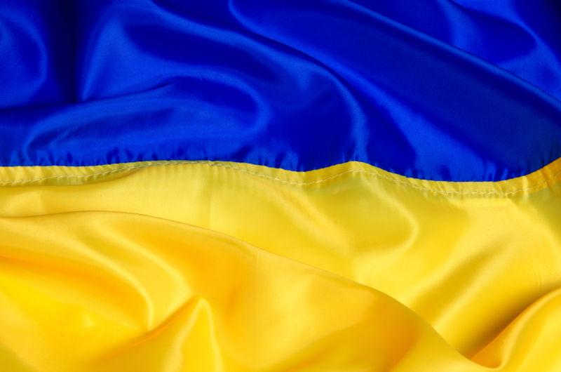 乌克兰国旗丝绸背景