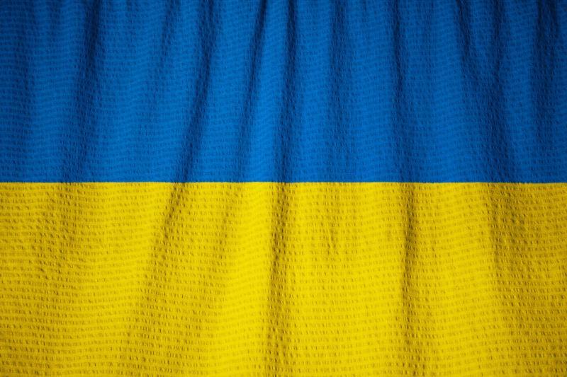 乌克兰国旗迎风飘扬