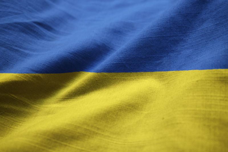 乌克兰国旗飘扬