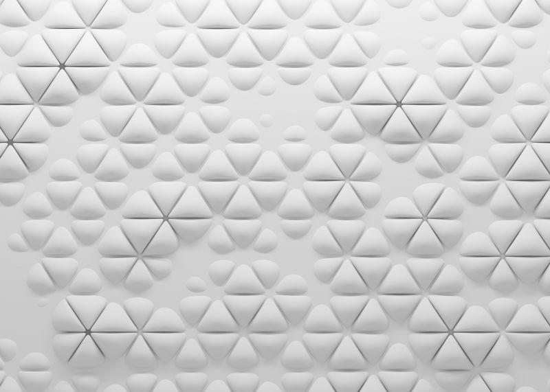 白色的多边形立体抽象背景
