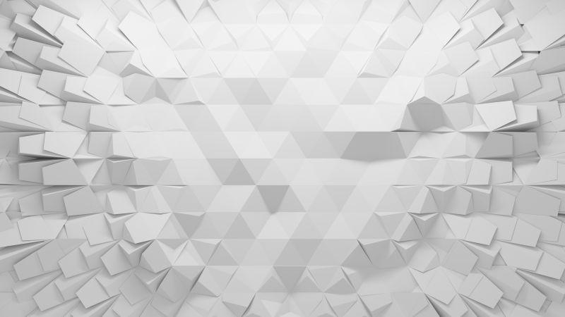白色多边三角形的纹理背景