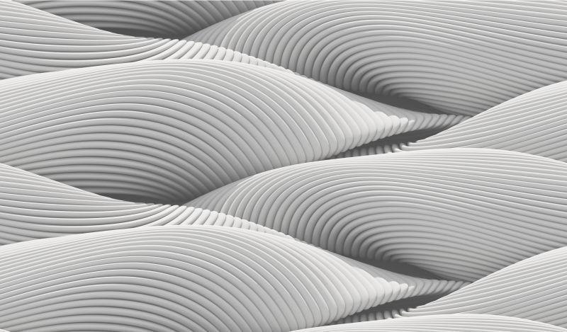 白色波浪形立体抽象背景