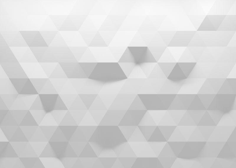 白色立体抽象背景