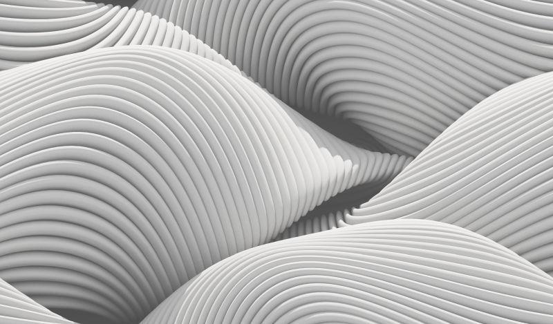 白色波浪形的立体抽象背景