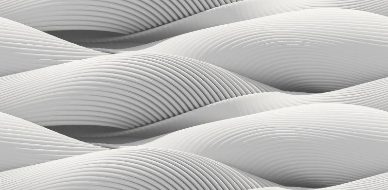 白色的曲面立体抽象背景
