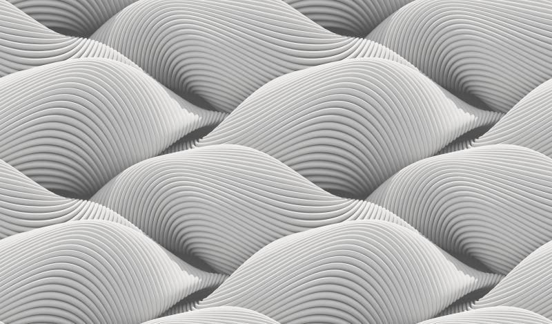 白色波浪形状的抽象背景