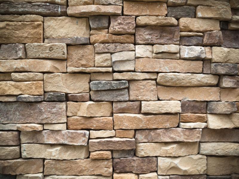 旧矩形石材幕墙的纹理