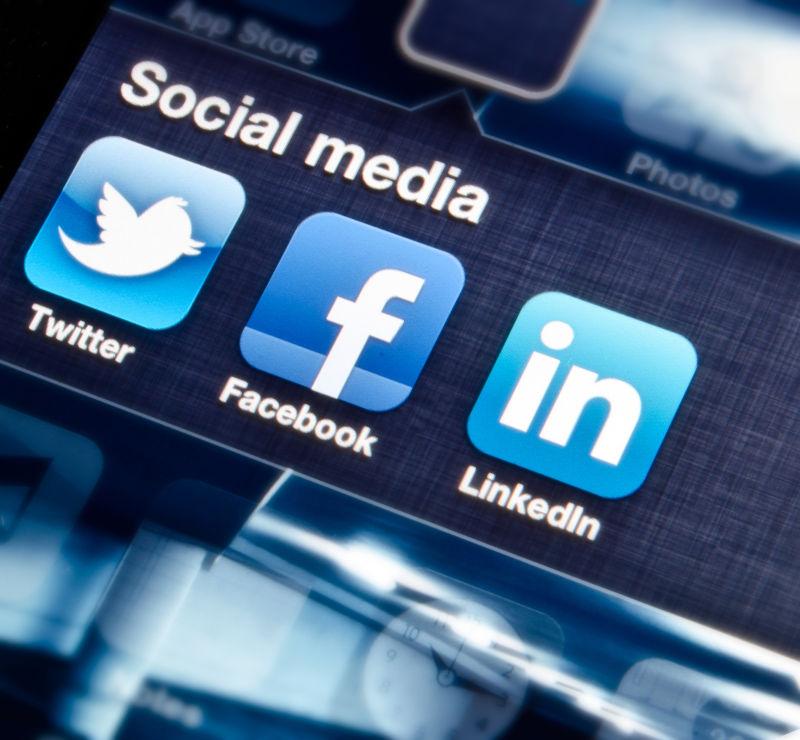 手机上的社交媒体软件