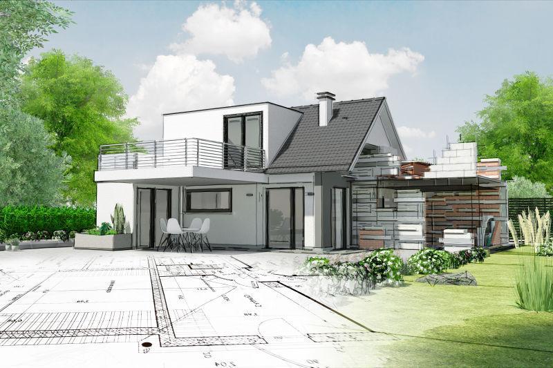 房子的建筑草图
