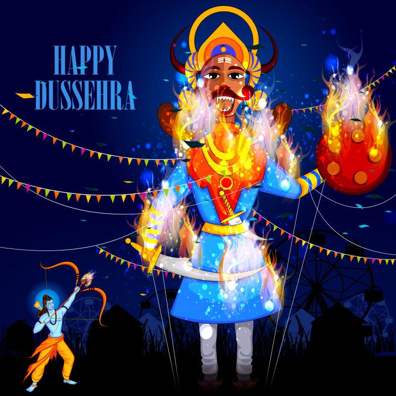矢量现代插图风格的印度节日插图
