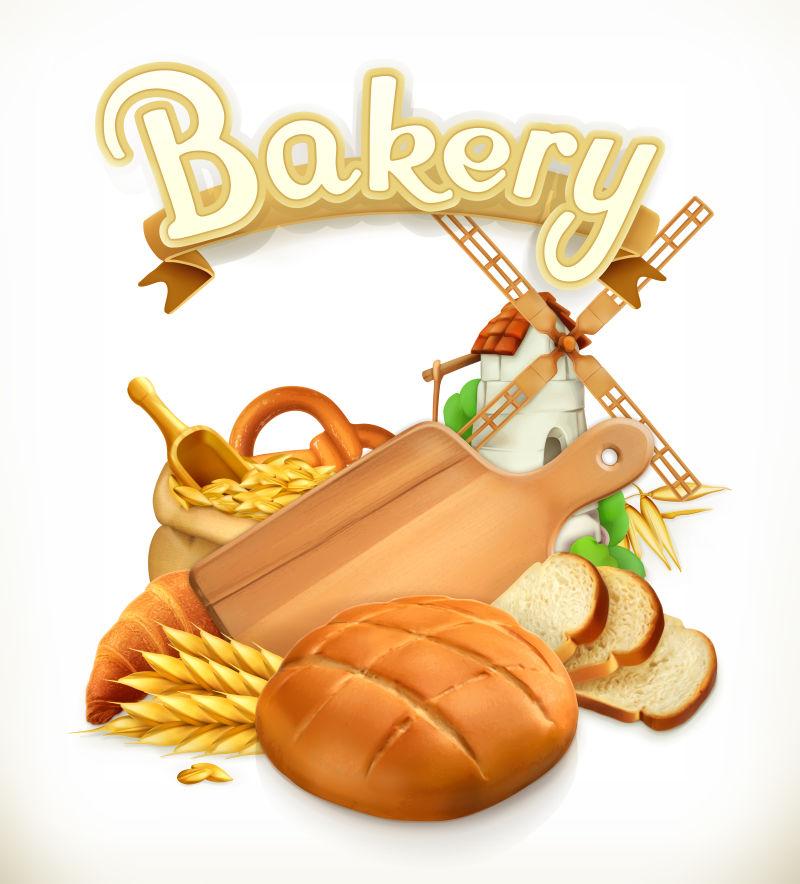 矢量的面包插图