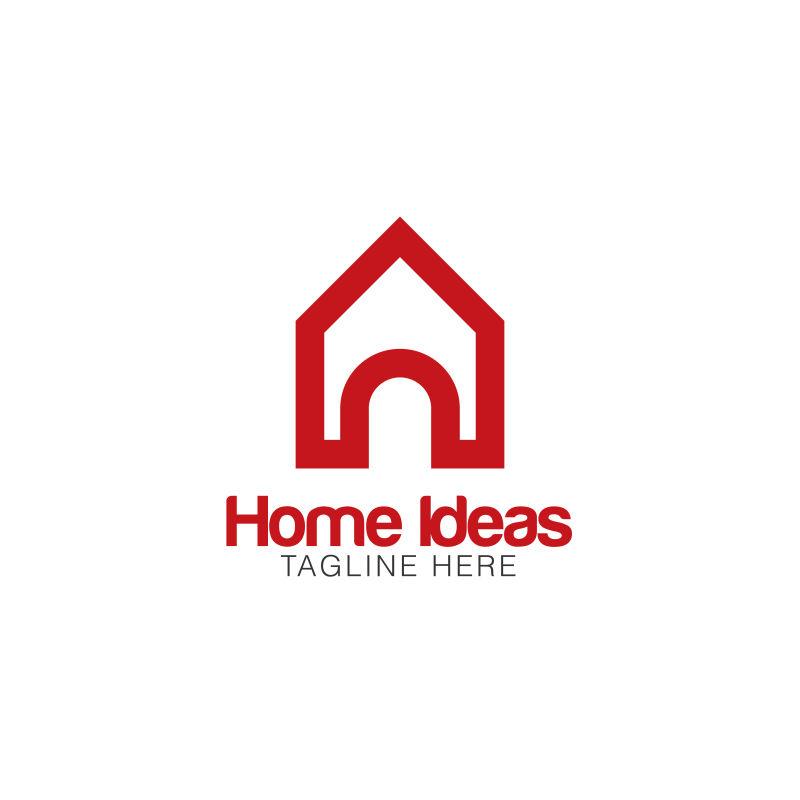 矢量的家居标志设计