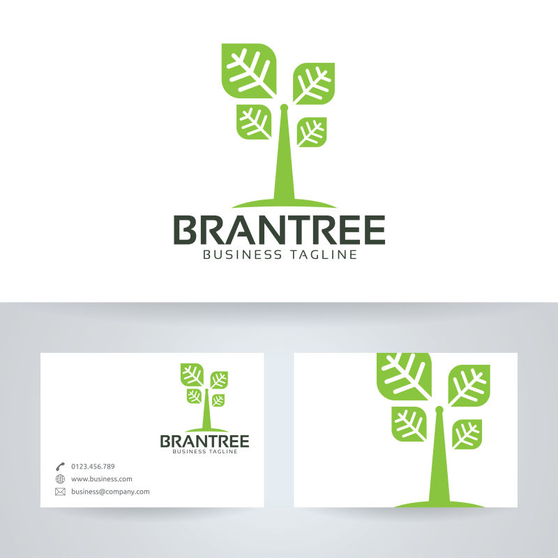 矢量的绿色树木标志
