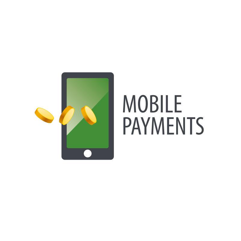 手机支付概念的矢量标志