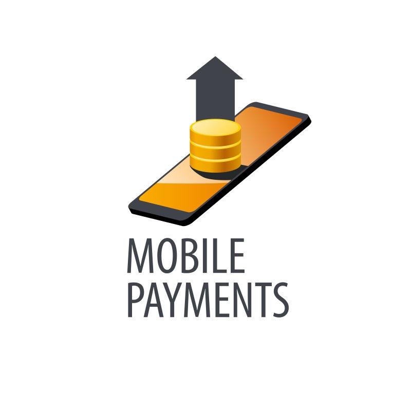 创意矢量手机网络支付概念标志