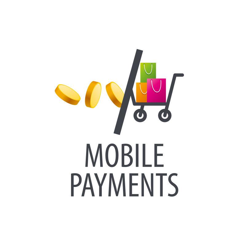 创意矢量网络购物支付概念标志