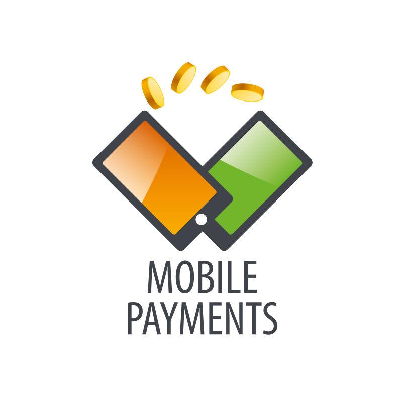 创意矢量手机支付概念标志设计