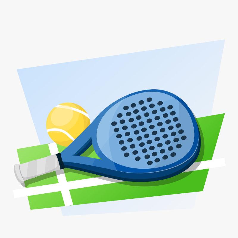网球插图矢量设计