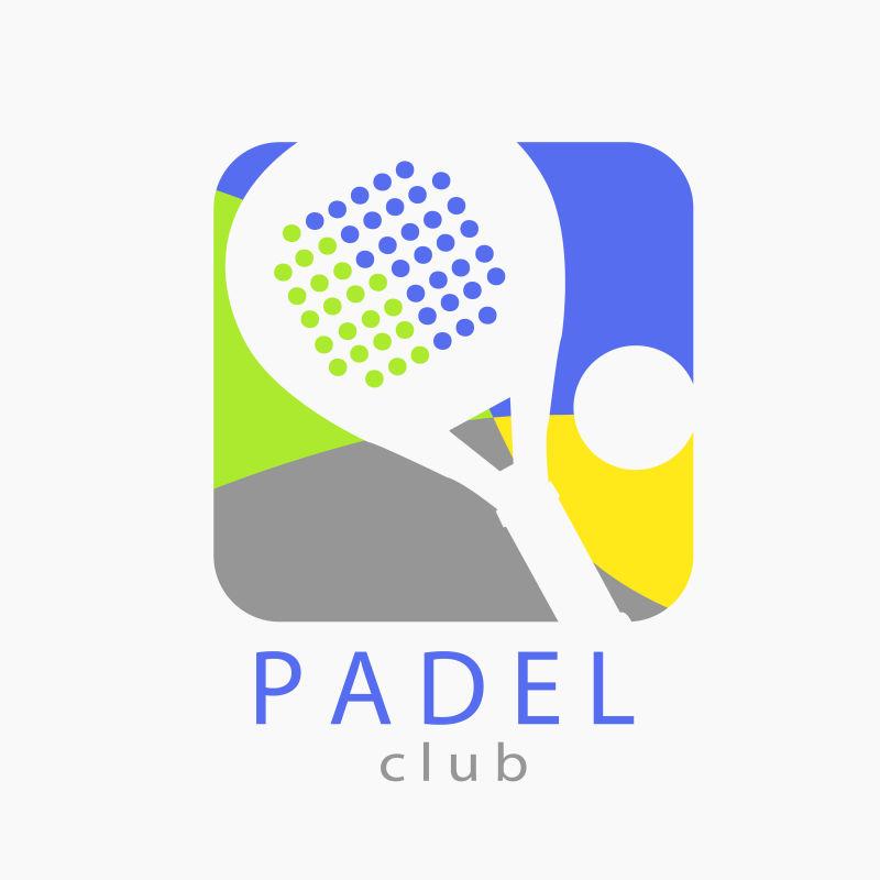 矢量的网球运动标志设计