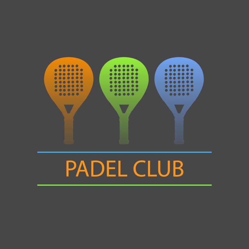矢量的网球运动标志