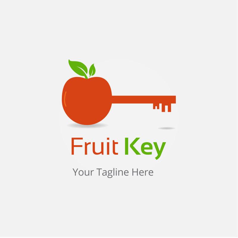 矢量重要水果概念的标志设计