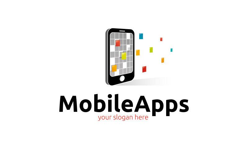 抽象矢量手机应用程序标志设计
