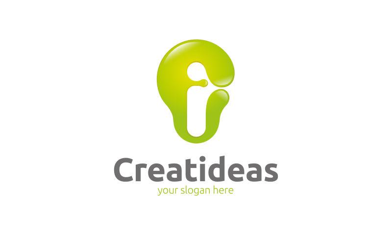 抽象矢量创意想法概念的标志设计