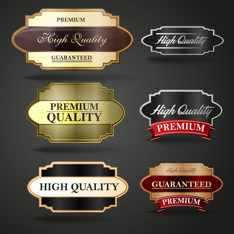 矢量的精美商品标签设计