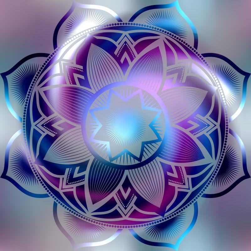曼荼罗花卉插图矢量设计
