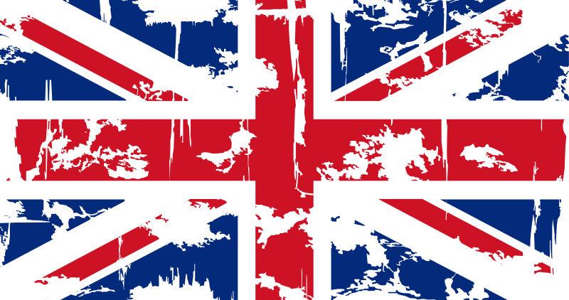 矢量复古的英国国旗