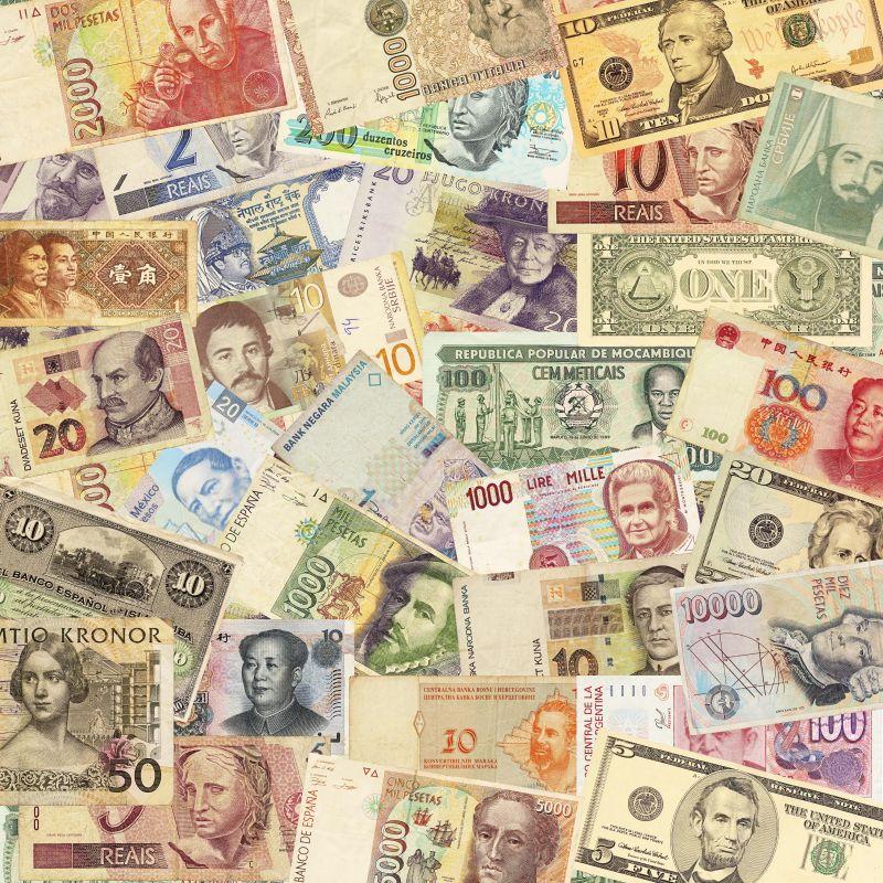 各国的纸币背景