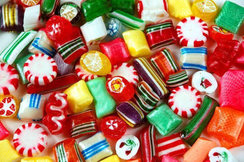 五彩糖果混合