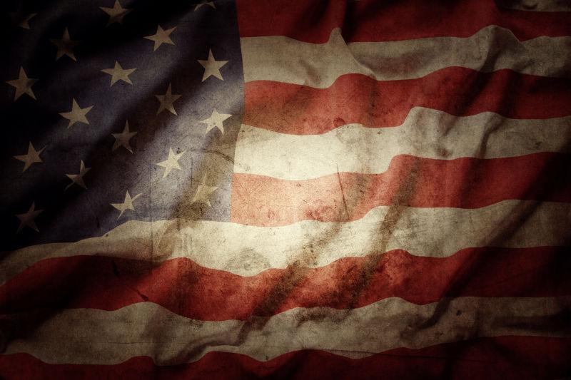 灰色的美国国旗