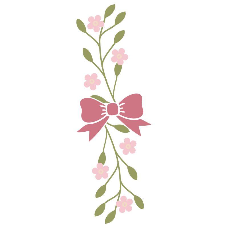 粉色蝴蝶结花朵装饰品