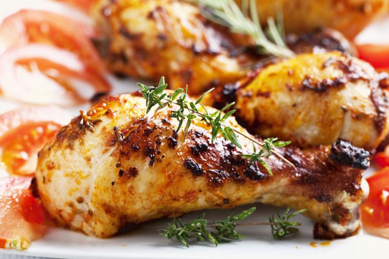 美味的烧烤鸡腿