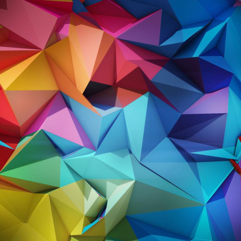彩色抽象几何