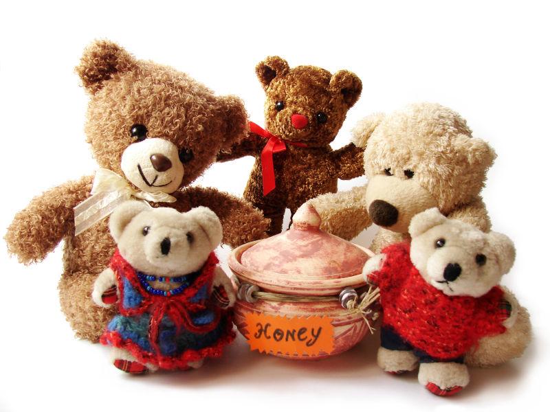 泰迪熊和蜂蜜